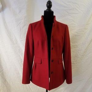 Banana Republic Red Wool Pea Coat